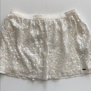 Hollister   Ivory Sequined Skirt NWT